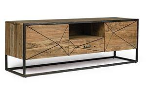 Mobile porta tv 2A-1C Egon, Mobile porta tv in legno d'acacia
