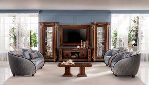 Modigliani composizione tv n.15, Mobile tv in stile classico