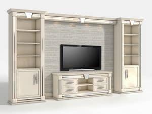 Porta tv per soggiorno classico contemporaneo per ville - Porta televisore classico ...