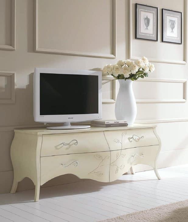 Mobili bassi per soggiorno usati design casa creativa e mobili ispiratori - Mobili per tv in legno ...