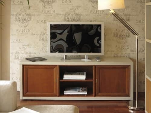 Mobile tv in legno stile classico contemporaneo idfdesign for Mobile contemporaneo