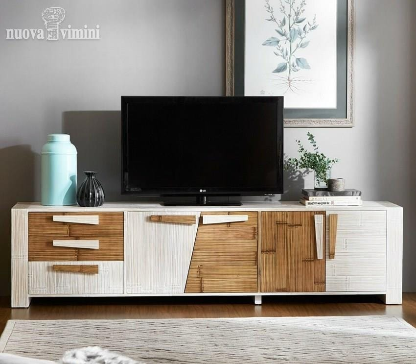 Porta tv etnico, in crash bambu | IDFdesign