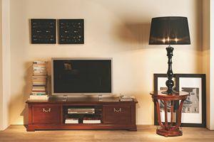 Villa Borghese Mobile porta TV 5378, Mobile porta tv con ripiano in cristallo temperato