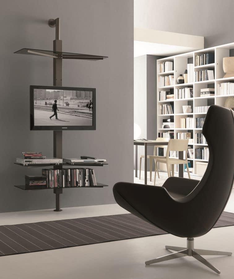 Portatv orientabile montaggio a parete o a soffitto idfdesign - Mobili porta tv moderni ...