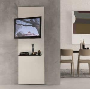 xl97 premiere, Mobile porta TV in cristallo con mensola, orientabile a 180�