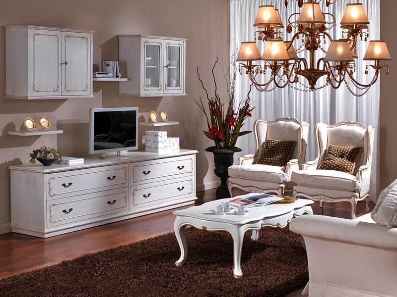 mobili a parete per soggiorno classici idee per il