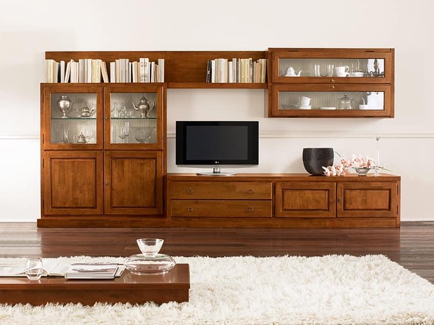 Mobili salotto legno idee per il design della casa for Mobili soggiorno legno