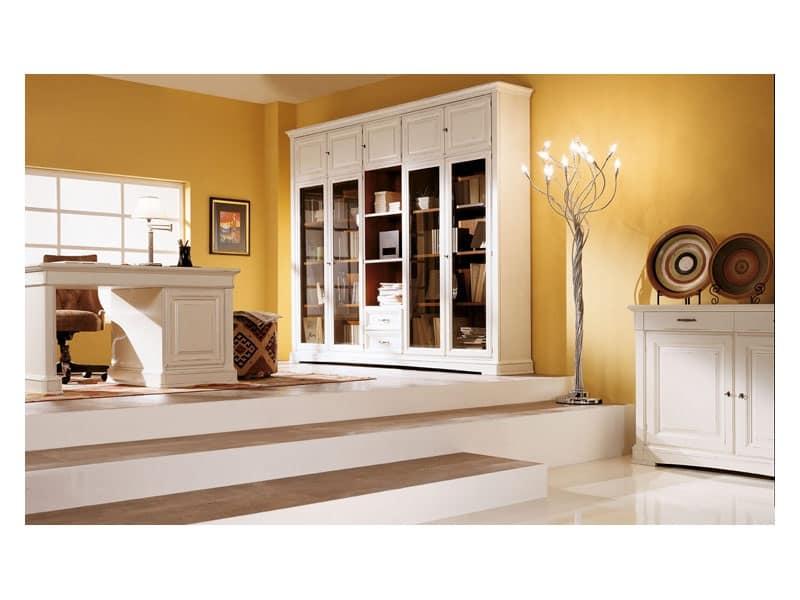 Mobile con ante in vetro bisellato stile classico idfdesign for Mobile soggiorno vetro
