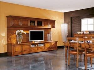 Art.106/L, Mobile porta TV in legno, stile classico