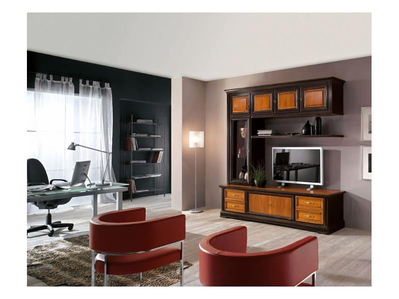 Mobile per soggiorno in legno massello, stile classico  IDFdesign