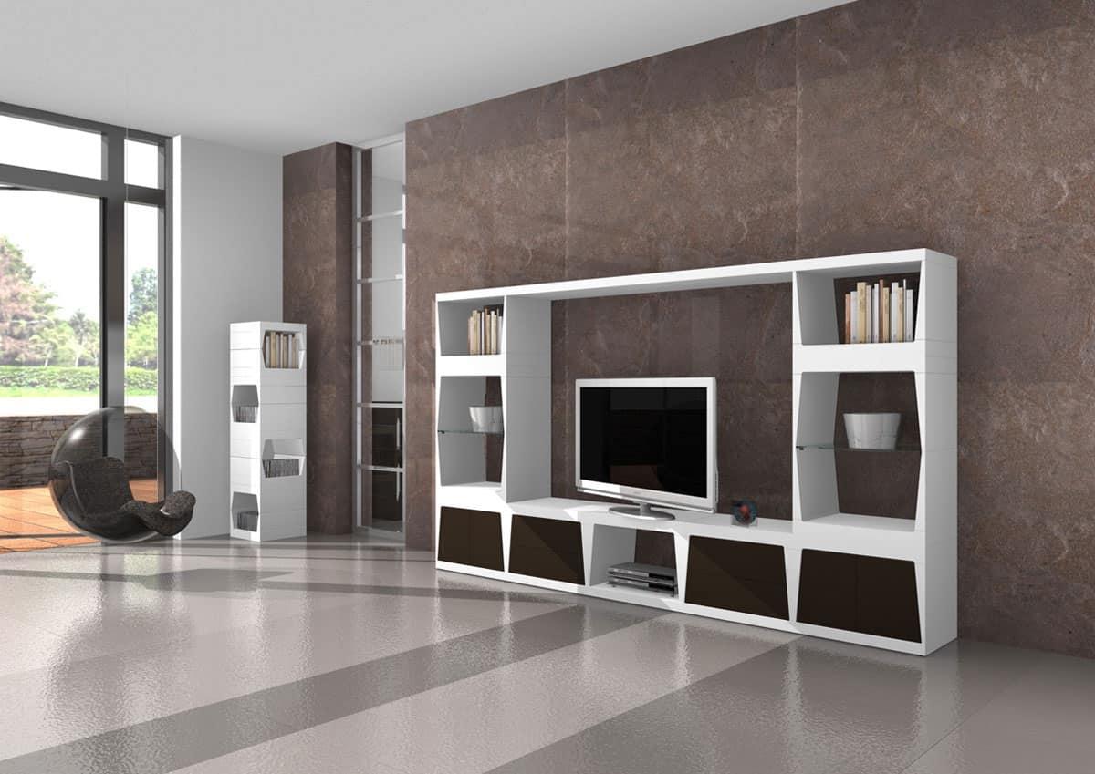 Mobile porta tv base con cassetti con apertura push pull for Mobili salotto design