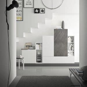Spazio S308, Parete attrezzata per soggiorno, di alta qualit�