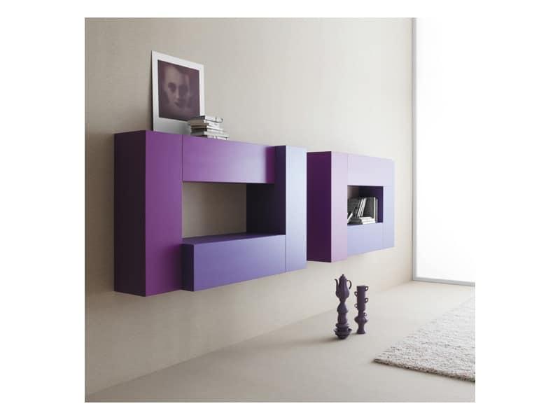 Mobili componibili per soggiorno fissaggio a parete - Mobili a parete per soggiorno ...