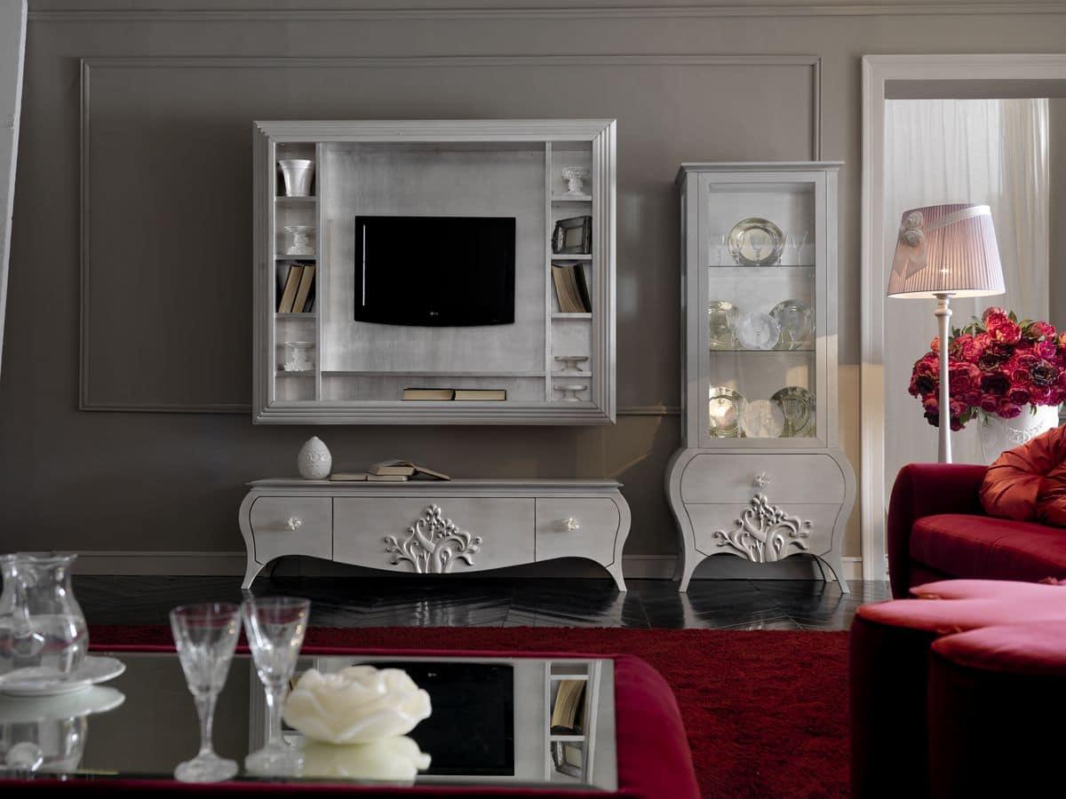 Mobili da soggiorno stile classico contemporaneo idfdesign - Mobili soggiorno classico ...