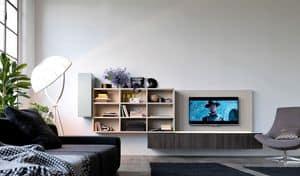Citylife 01, Sistema modulare moderno per salotti, con luci LED
