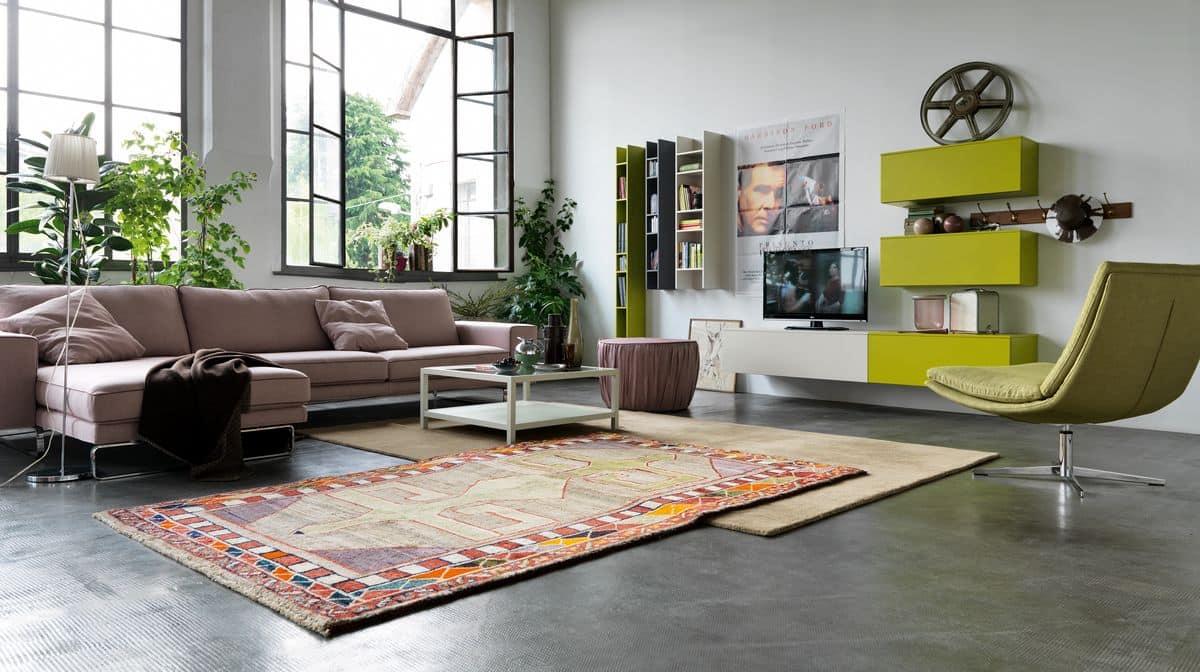 Mobili per salotti colorati sogno immagine spaziale - Pomelli colorati per mobili ...