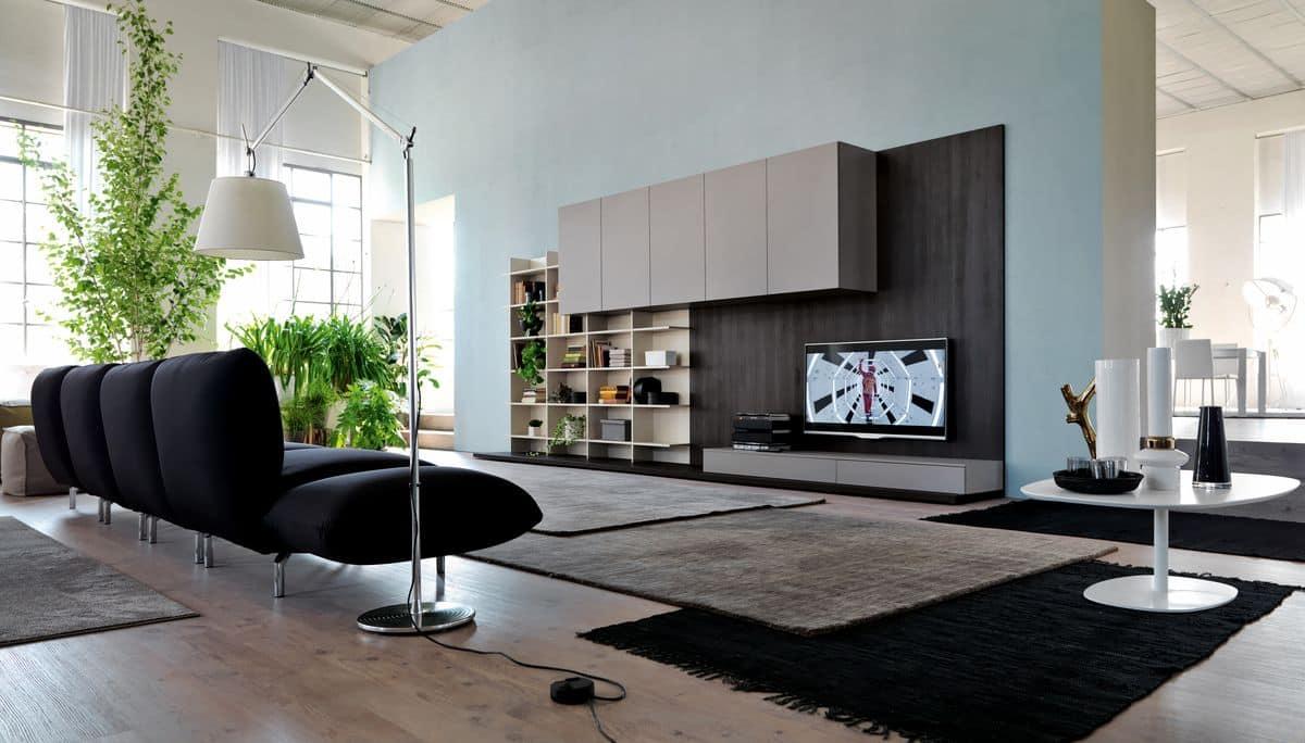 Arredo moderno per salotti con pannelli di rivestimento for Foto di salotti arredati moderni