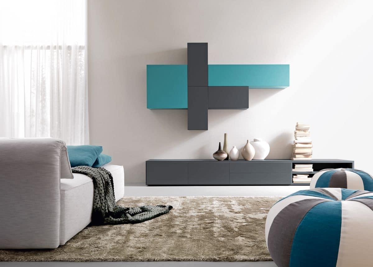 Composizione per salotti e soggiorni customizzabile for Salotti mobili moderni