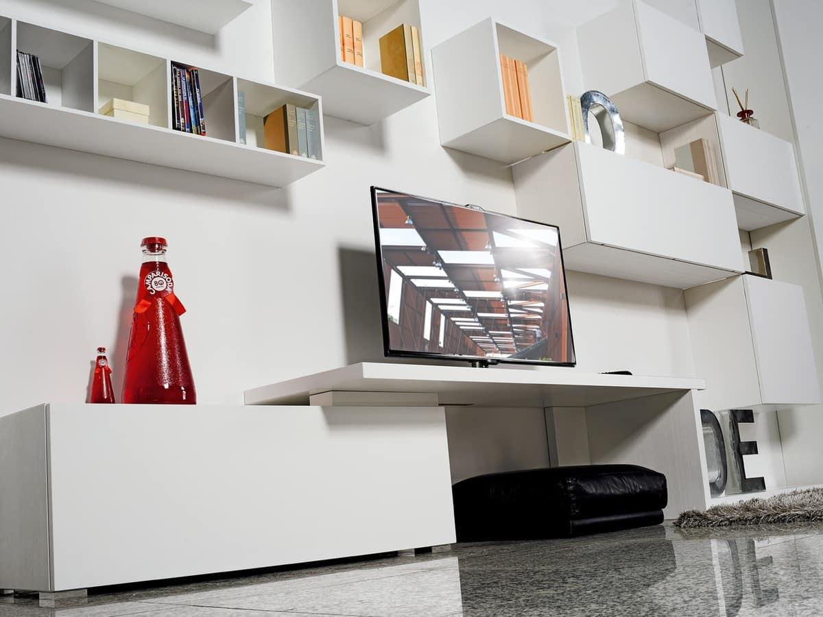 Mobili modulari per soggiorni contemporanei idfdesign for Mobili contemporanei moderni