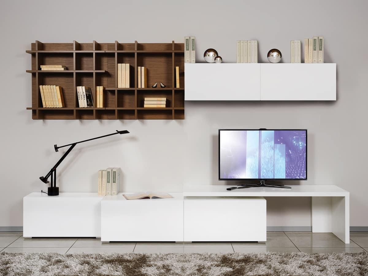 Arredamento modulare per salotti in stile minimalista for Arredamento minimalista design