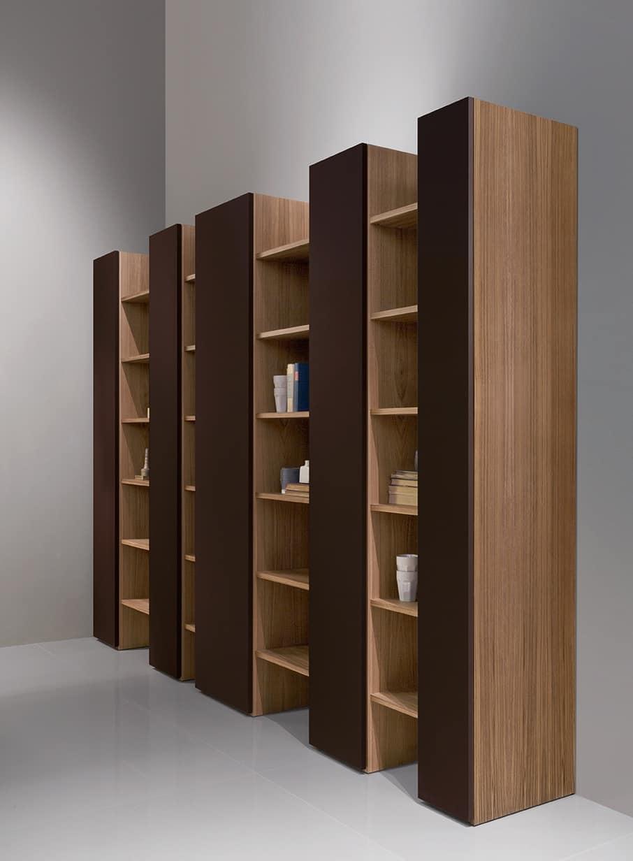 Libreria moderna elegante e robusta per soggiorno for Soggiorno elegante