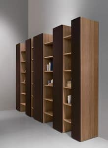CODE comp.04, Libreria moderna, elegante e robusta, per soggiorno