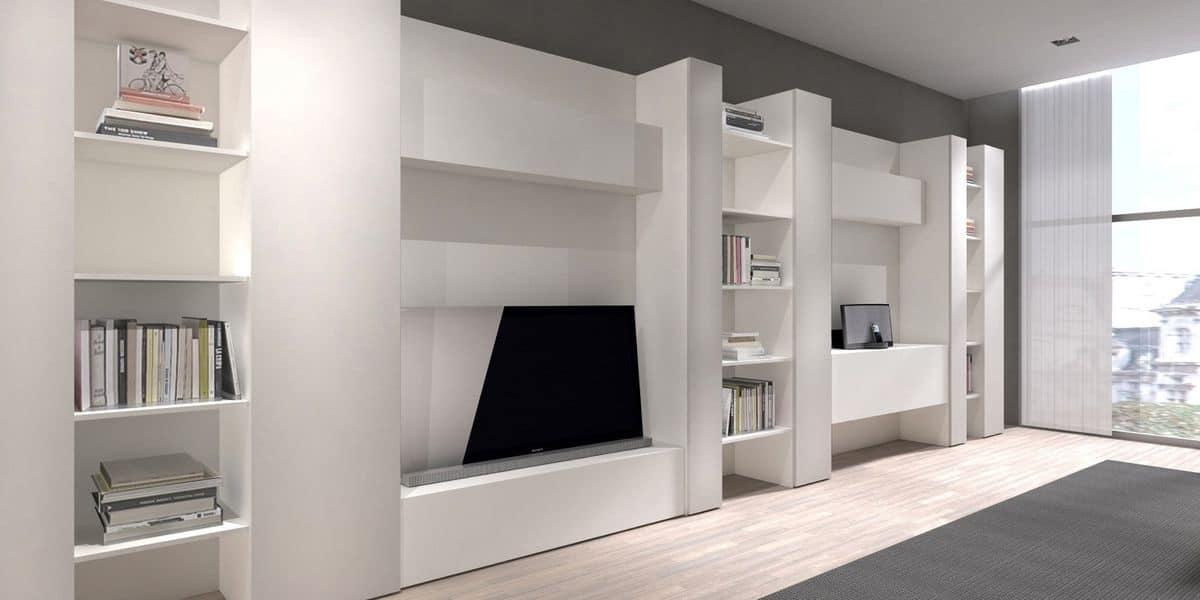 Libreria moderna per salotti, mobile porta TV per salotto - CODE comp ...
