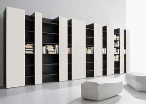 CODE comp.03, Mobile per soggiorno moderno, alto design, porta tv