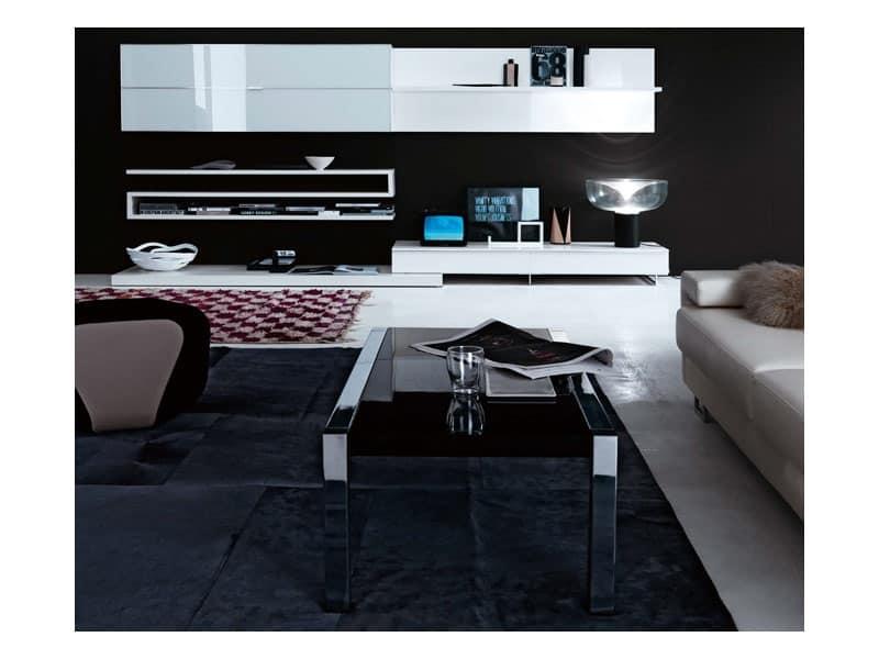 Contenitori pensili 8 mobili per soggiorno sala lettura - Mobili contenitori soggiorno ...