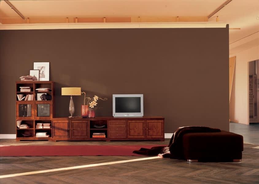 Cool cubica mobile 7 mobile soggiorno sala tv idfdesign for Mobile sala