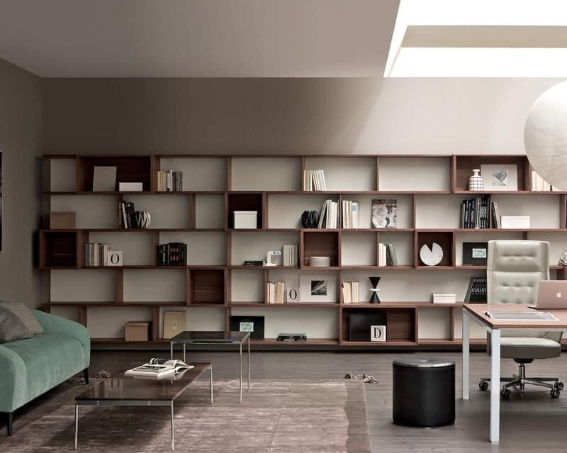 Sistema modulare per arredo salotto libreria componibile for Libreria salotto