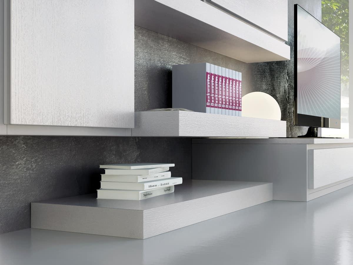 Sistema di mobili componibili con diverse finiture - Mobili componibili soggiorno ...