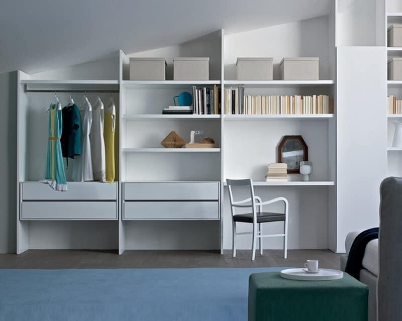 Libreria per soggiorno mobile componibile per salotto idfdesign