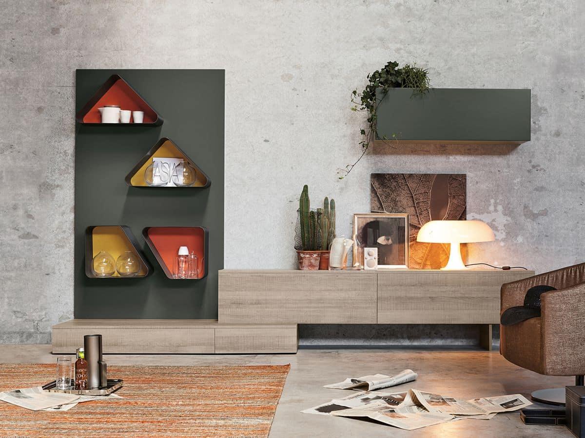 Magnetika living M04, Arredo moderno per salotto - IDFdesign