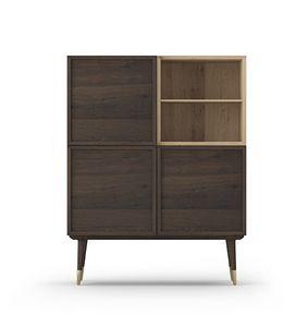 Mobile Coco 011, Mobile soggiorno in legno di rovere