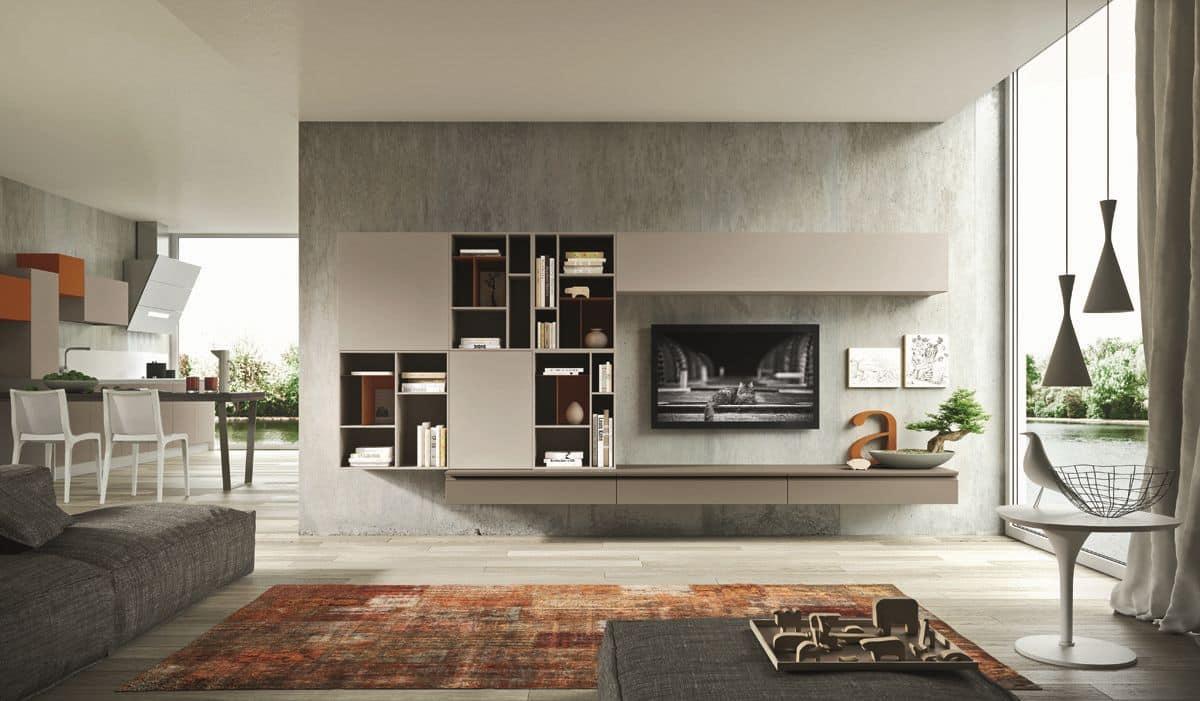 mobili soggiorno sospesi ideali per salotti moderni