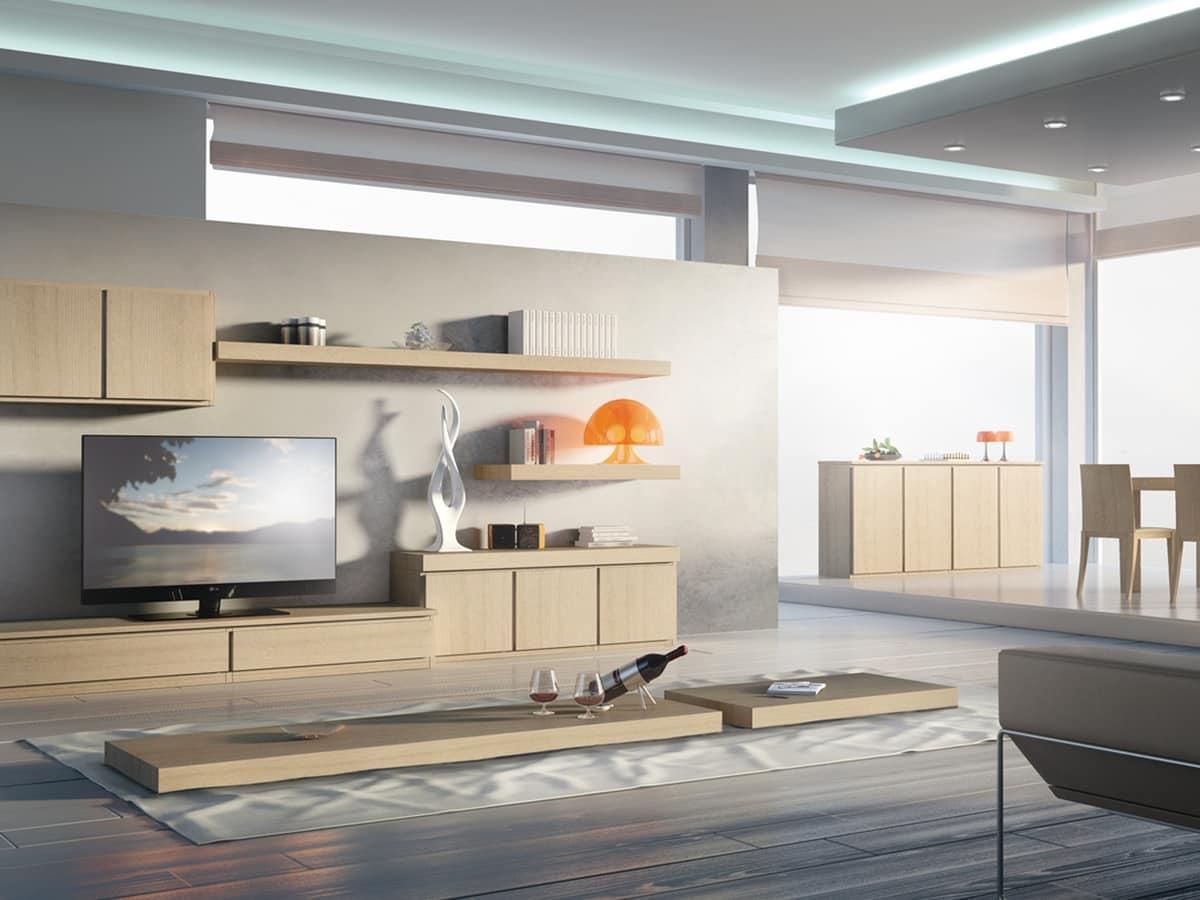 Mensole Soggiorno Legno ~ Idee per il design della casa