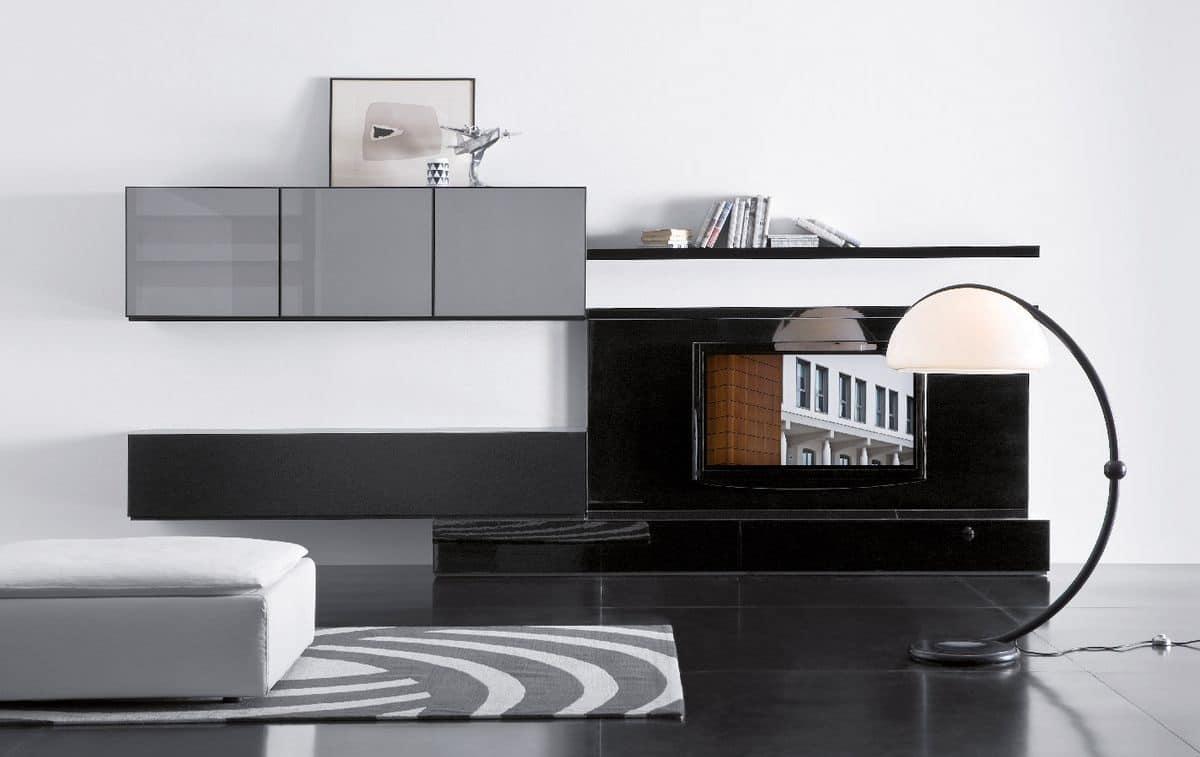 Mobile design componibile per zona giorno idfdesign - Mobile soggiorno design ...