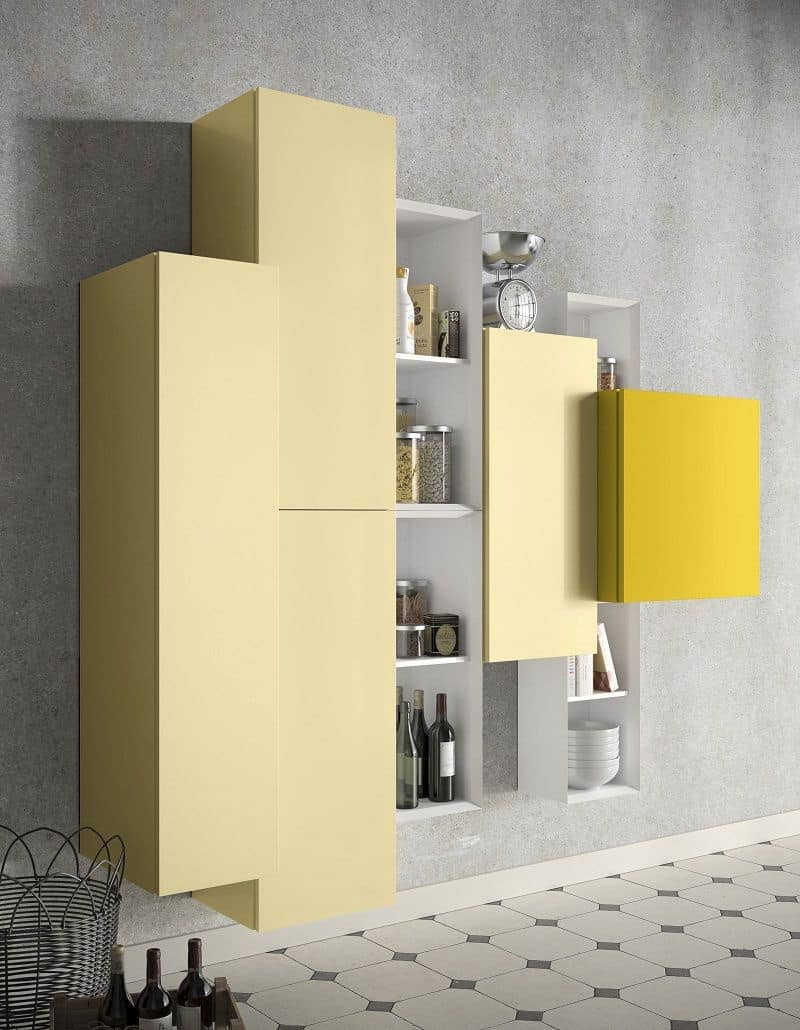 Madia moderna bianca for Tavolo cream calligaris