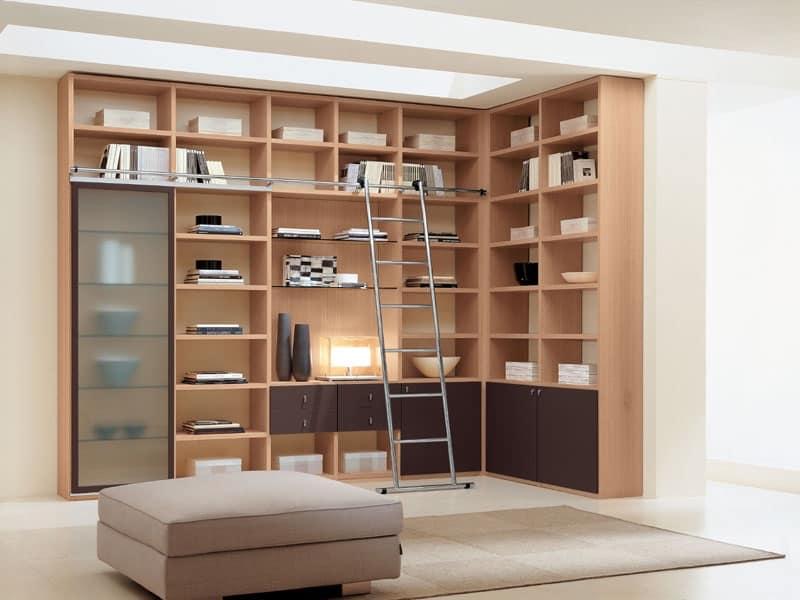 Mobili sistemi modulari salotto idf for Librerie angolari