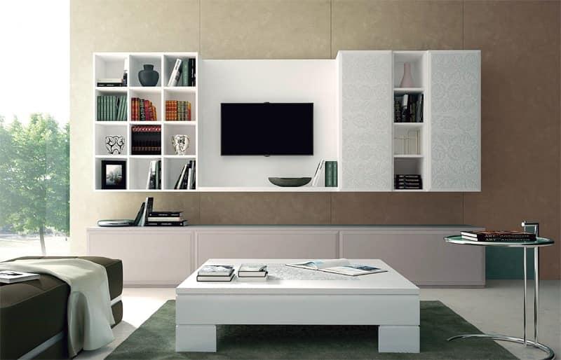 Arredo living mobile per soggiorno composizione per for Mobile parete sala
