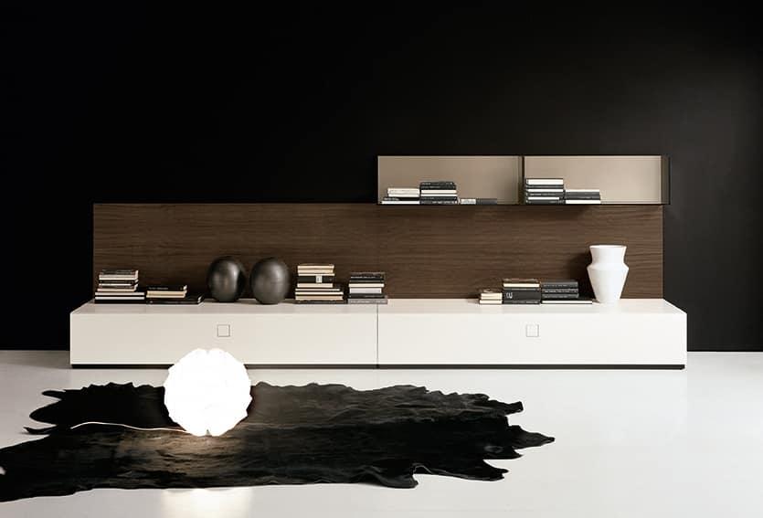 Contenitori modulari per il soggiorno, diverse finiture ...