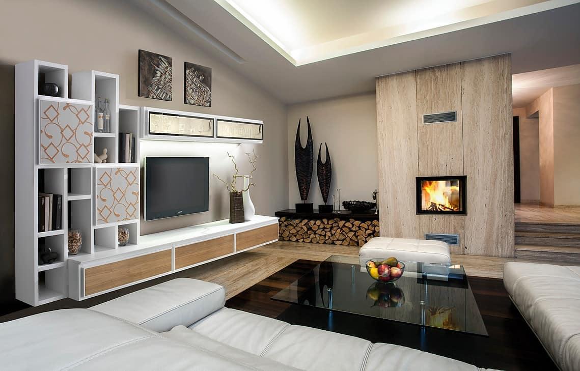 Mobile per salotto, minimale, modulare, funzionale | IDFdesign