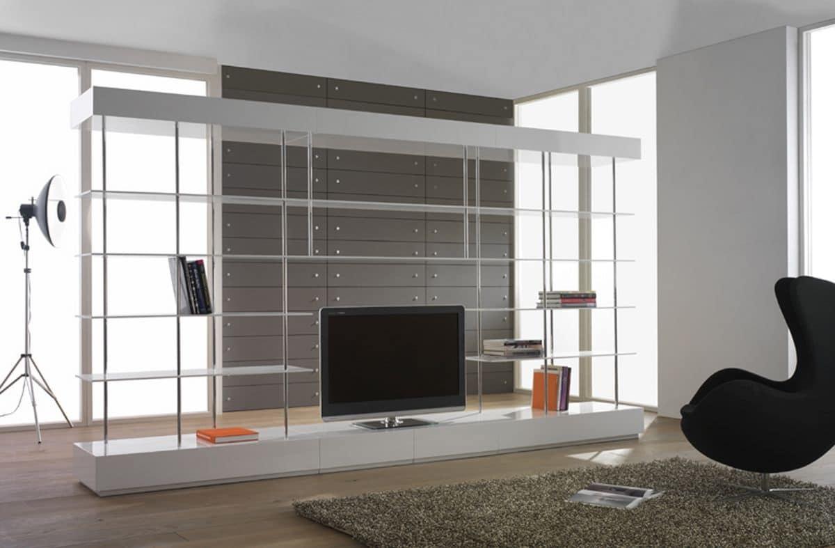 ... simili a: Libreria bifacciale moderna per salotto, mobile tv soggiorno