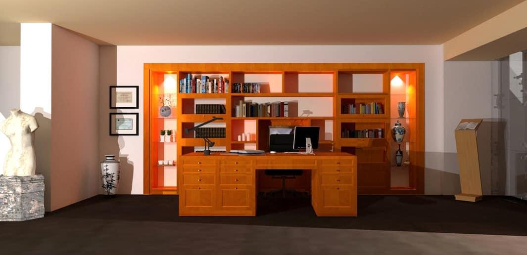 Mobile componibile in legno per soggiorno moderno | IDFdesign