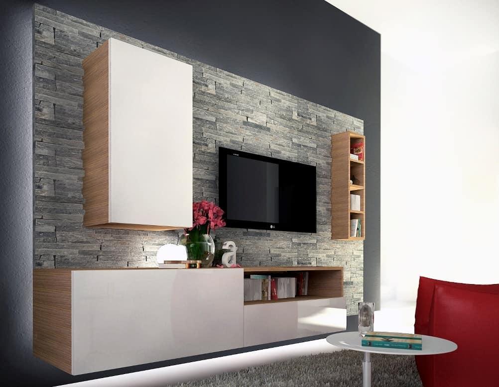 Mobili sistemi modulari salotto design moderno idfdesign - Mobili bar da salotto ...