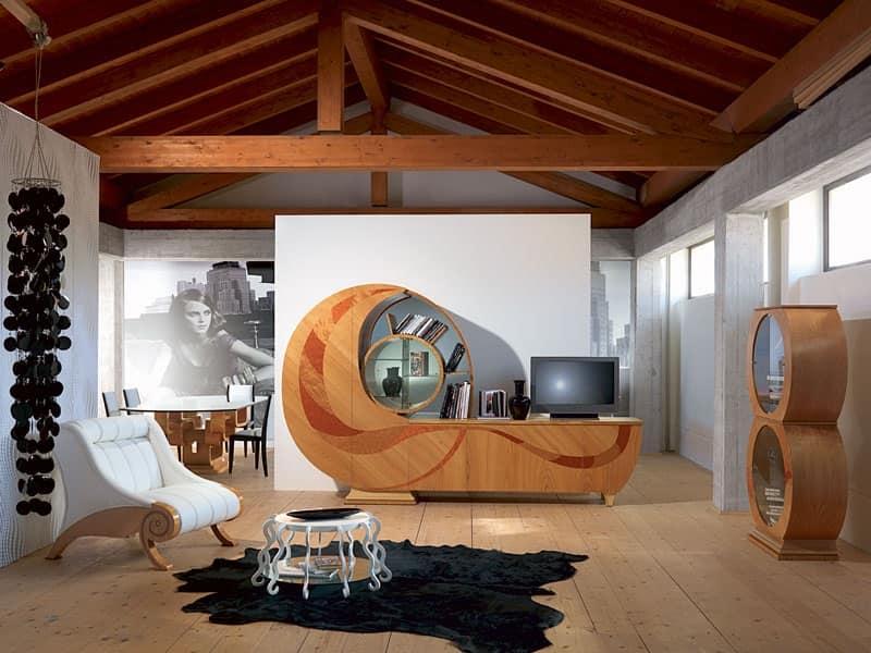 Soggiorno Elegante Moderno: Moderno ed elegante soggiorno realizzato ...