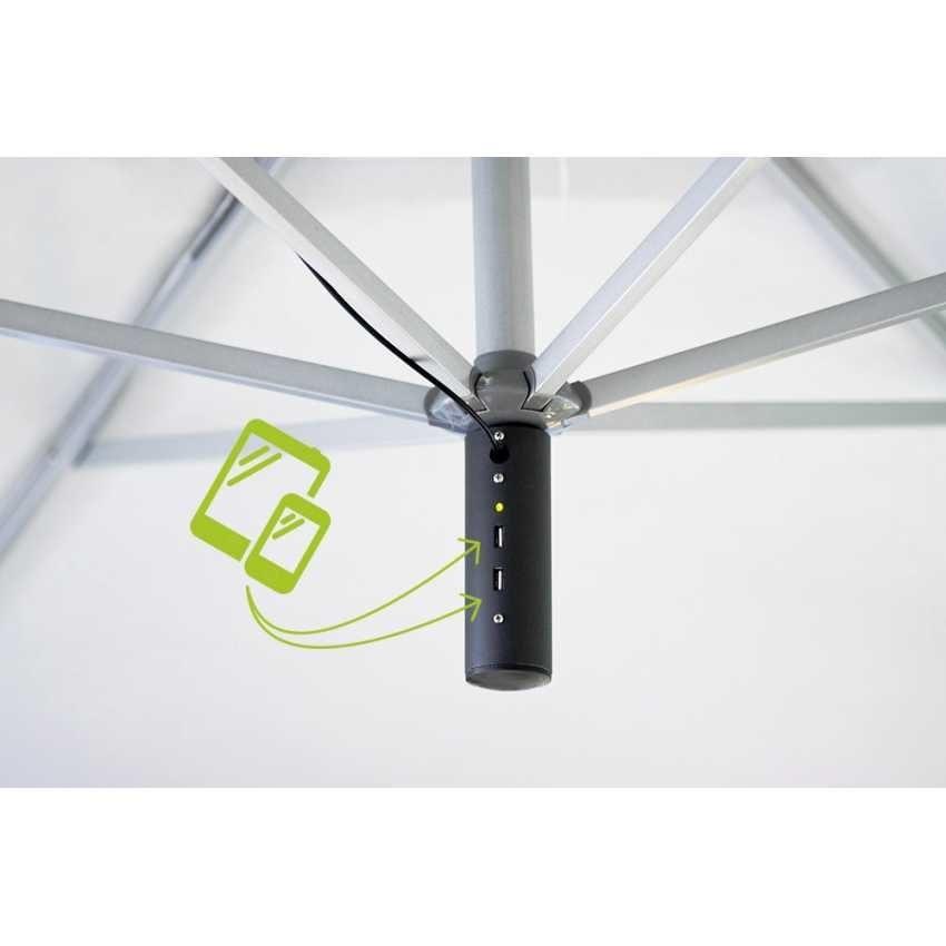 Ombrellone giardino Usb – GA300USB, Ombrellone con carica batterie usb