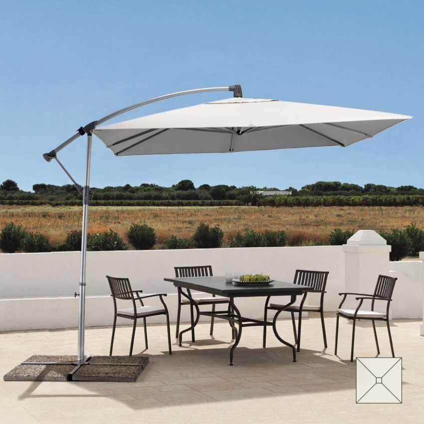Ombrellone da giardino con protezione raggi uv idfdesign - Riparazione ombrelloni da giardino ...