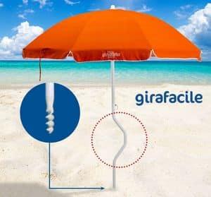 Ombrellone spiaggia brevettato Girafacile � GF200COT, Ombrellone massima protezione solare per spiaggia